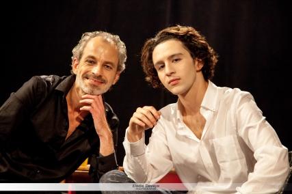 Thierry DEVAYE et Neil ADAM (pièce de théâtre : OMBRE) © Elodie Devaye Photo non libre de droit.