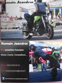 Carte de viste de Romain Jeandrot